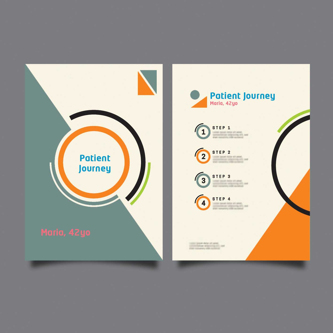 brochure design for patient journeys
